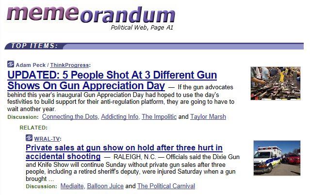 Memeorandum gun show accidents