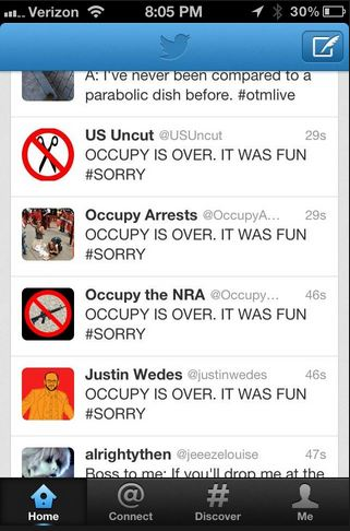 Occupy twitter phone