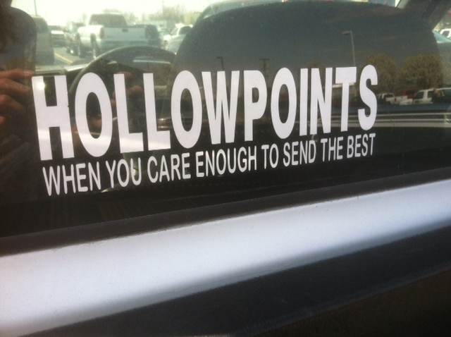 Bumper Sticker - Nashville TN - Hollowpoints