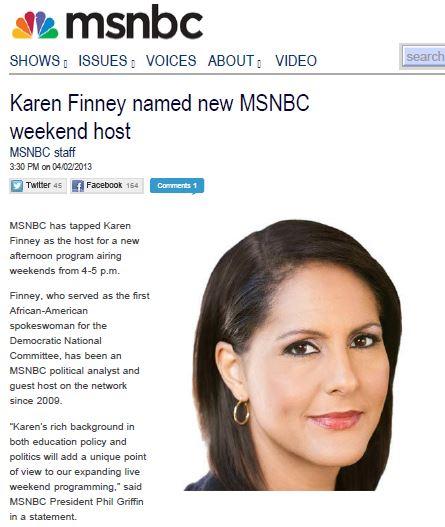 MSNBC Karen Finney new show