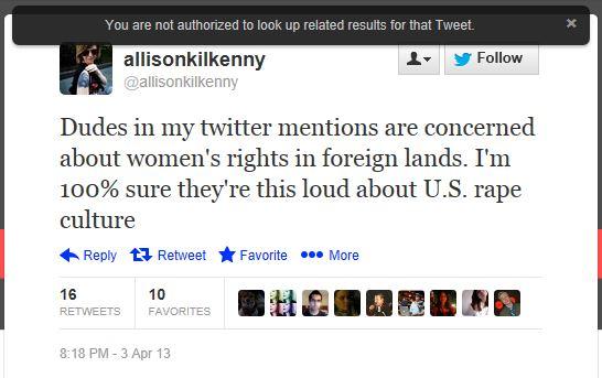 Twitter - @allisonKilkenny - Dudes