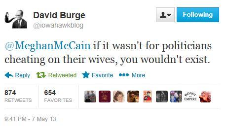 Twitter - @iowahawkblog - Meghan McCain