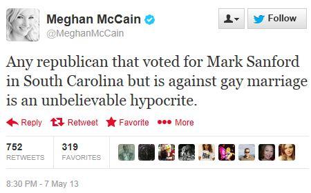 Twitter - @meghanmccain - Sanford hypocrite