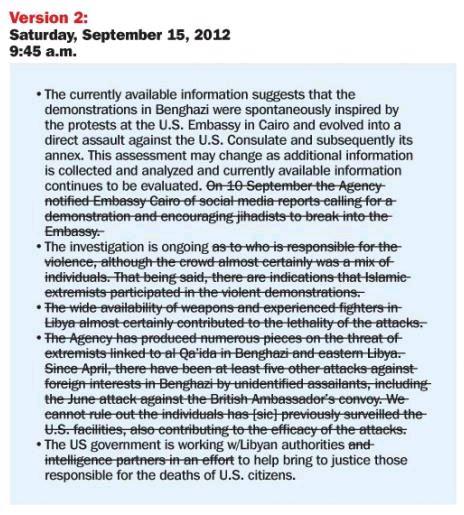 Weekly Standard Benghazi Talking Points Version 2
