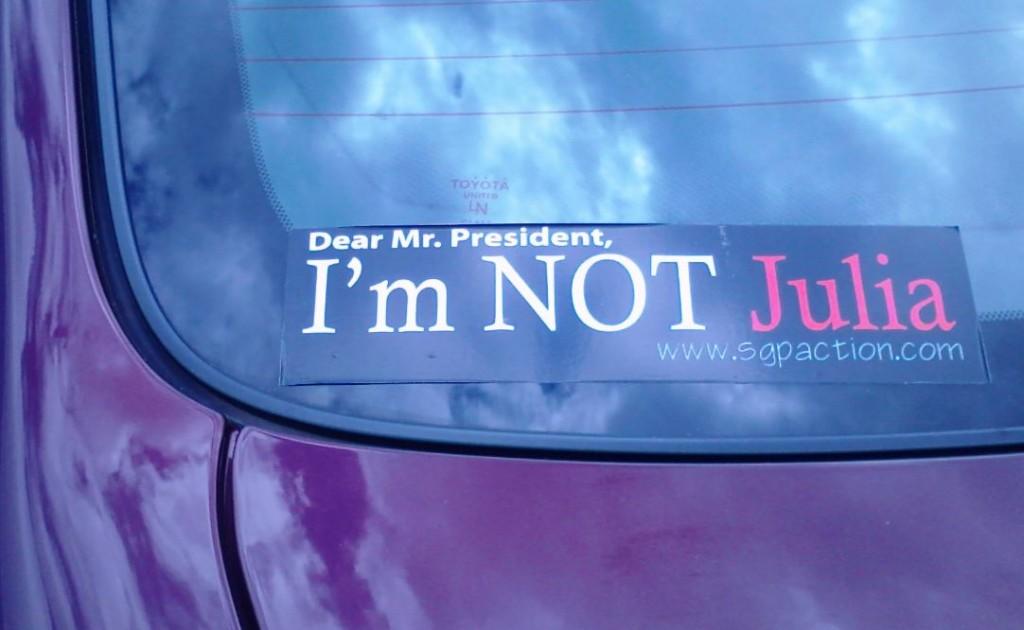 Bumper Sticker - Athens TN - Not Julia
