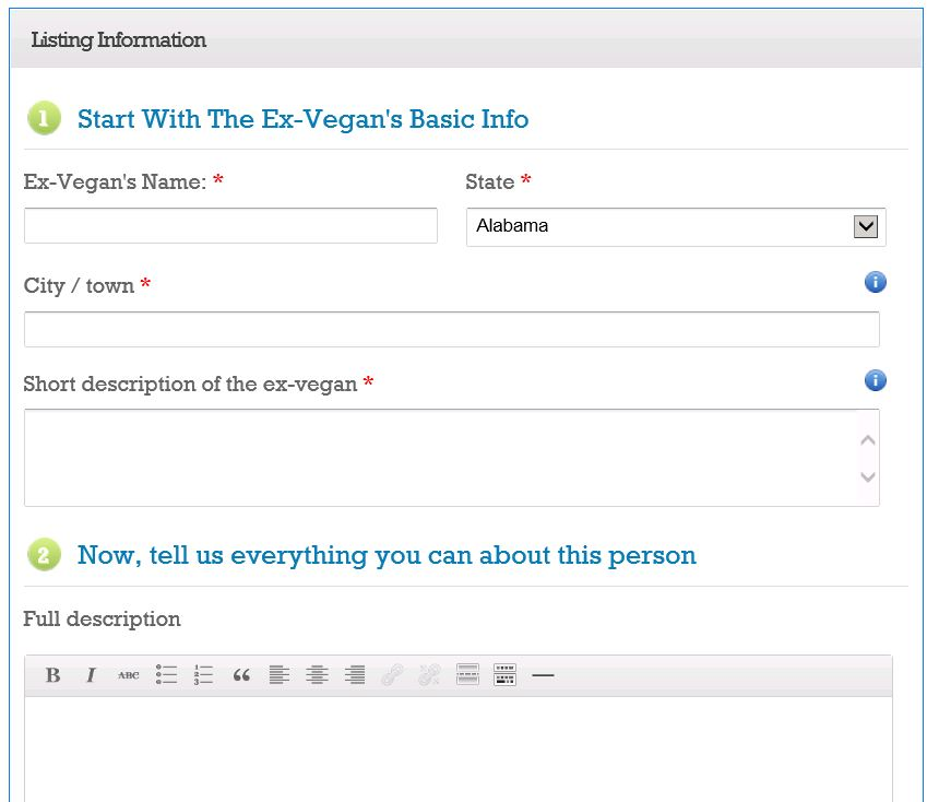 Vegan Sell-Out Data Entry