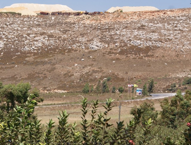 (Hezbollah fortifications overlooking Metula, Israel)(photo Hadar Sela 2013)