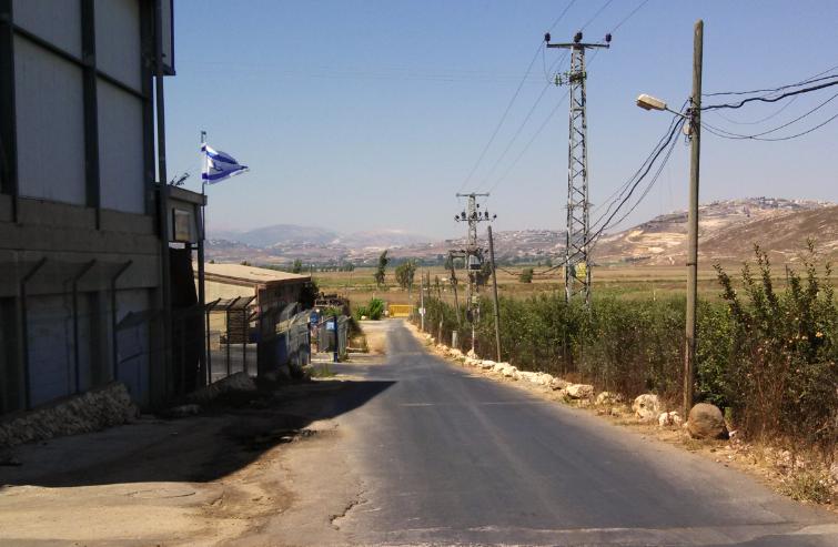 (Lebanese Border, Metula, Israel - street view)