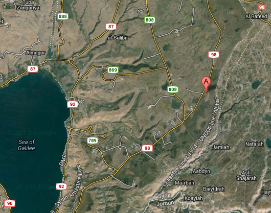 (Tel Saki, Golan Heights, Israel - Map View)