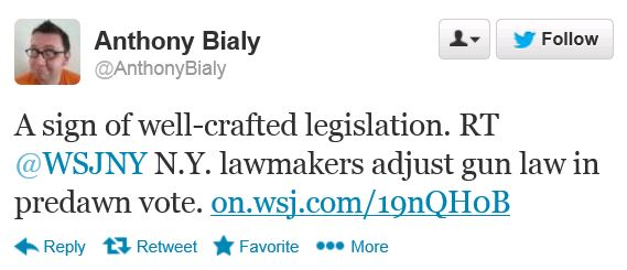 Twitter - @AnthonyBialy - NY Gun Law