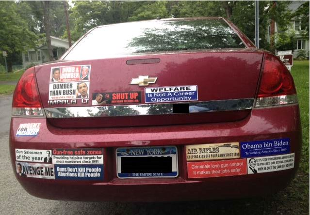Bumper Sticker - Ithaca - Dumber Than Bush