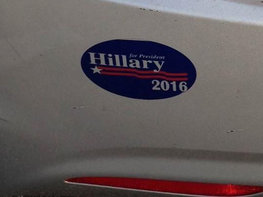 Bumper Sticker - Owings Mills, MD - Hillary 2016