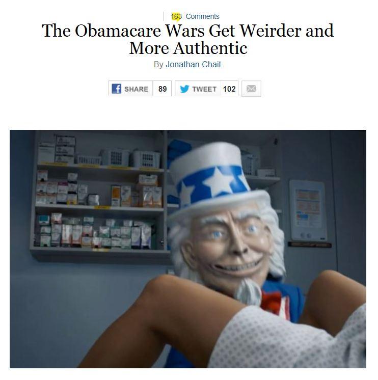 Creepy Obamacare Ad - NY Mag