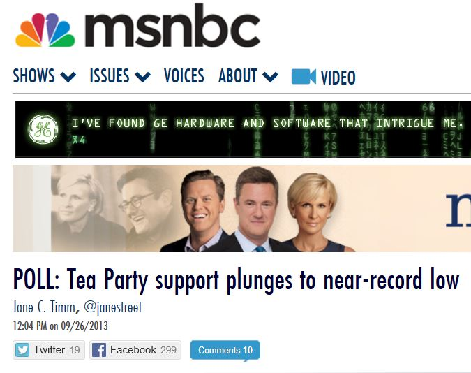MSNBC Gallup Tea Party 9-26-2103