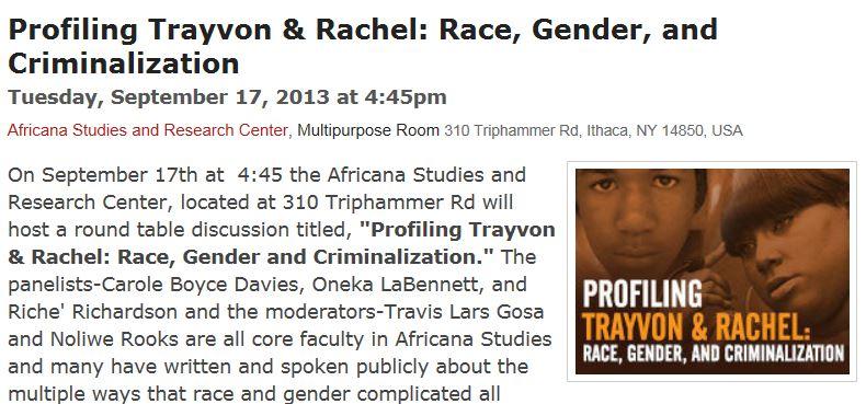 Profiling Trayvon Cornell