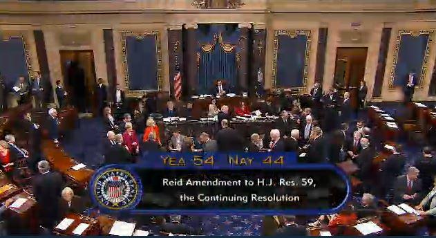 (Senate votes 54-44 to remove Obamacare defunding provision)