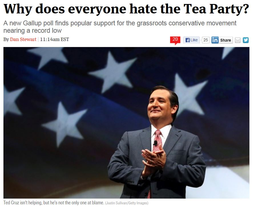 The Week - Gallup Tea Party 9-26-2013