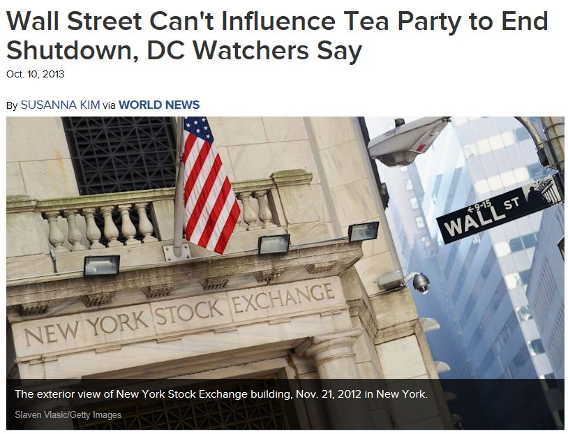 ABC News Wall Street Can't Influence Tea Party
