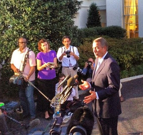 John Boehner after White House Mtg 10-2-2013