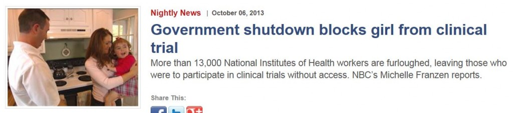 NBC New Shutdown Blocks Girl From Clinical Trial