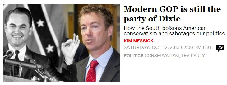 Salon.com Republican Party of Dixie