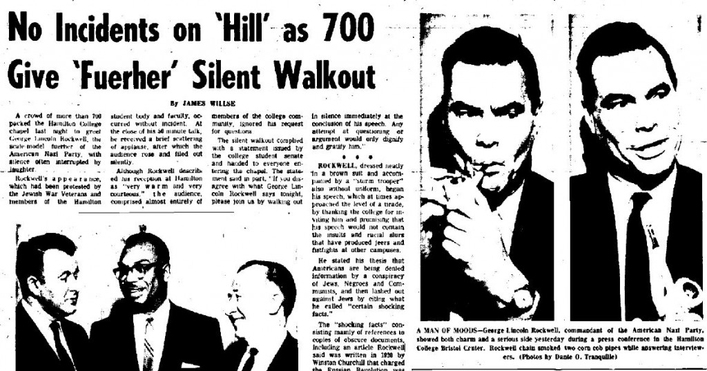 George Lincoln Rockwell at Hamilton College