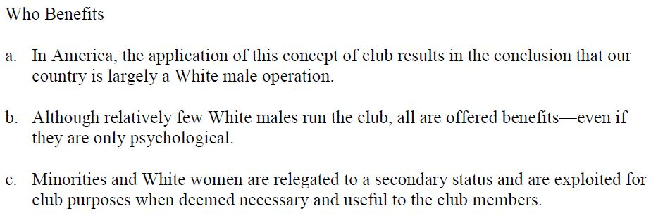 Pentagon manual white male club