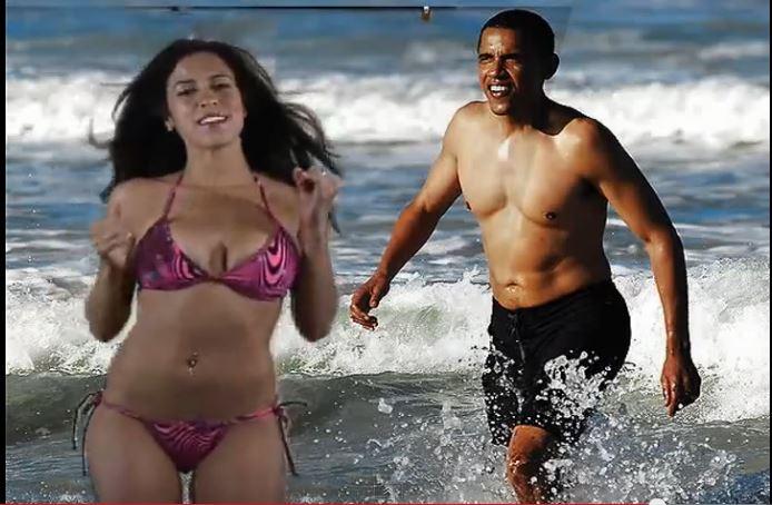Obama Girl Obama water