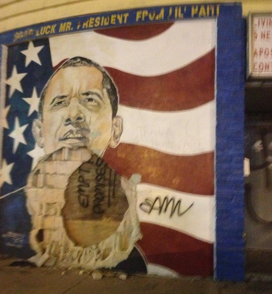 Little Haiti Obama Poster Empty Promises