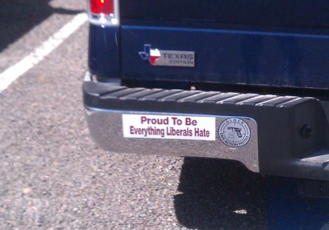 Bumper Sticker - Ft Stockton, Texas - Liberals Hate