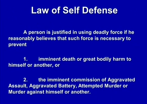 (Self-defense, forcible felony.)