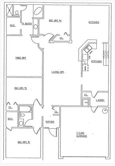 Layout of house--tight