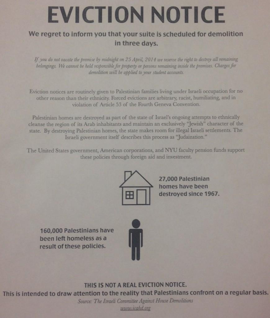 NYU SJP Mock Eviction Notice