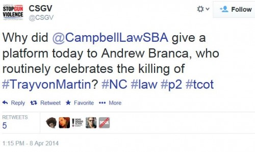Twitter - Coalition to Stop Handgun Violence - Andrew Branca Campbell