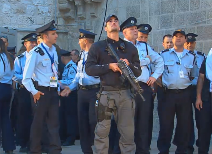 (Israeli security for Pope Francis visit to Church of the Holy Sepulchre)