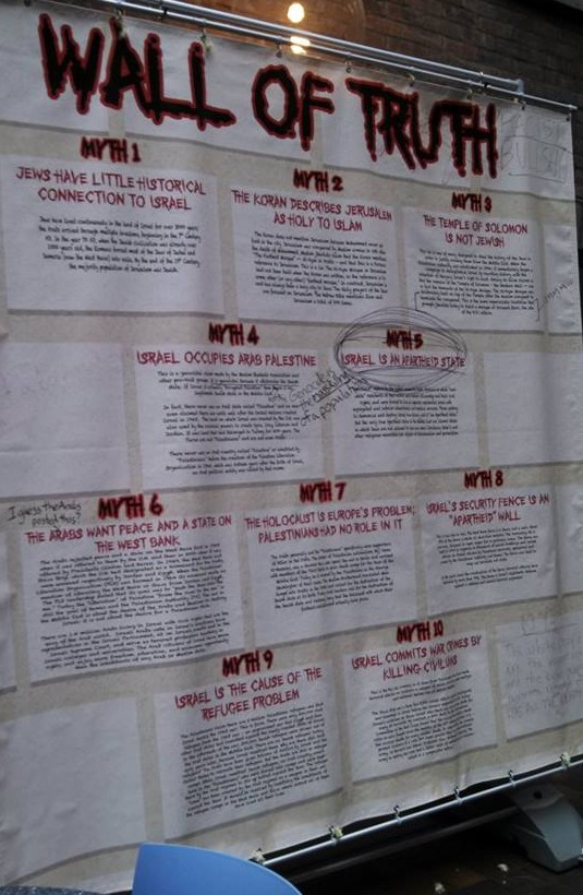 Vassar Wall of Truth May 2014 - Defaced