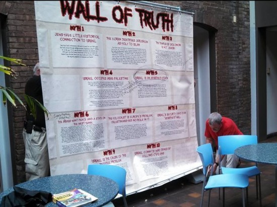 Vassar Wall of Truth May 2014 being taken down