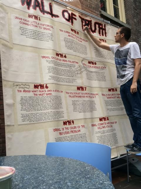 Vassar Wall of Truth being defaced May 2014