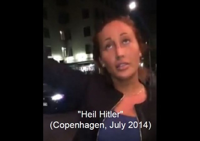 Copenhagen Woman Heil Hitler w caption
