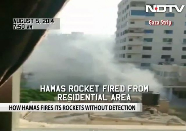 Hamas assembles and fires rocket from residential area NDTV