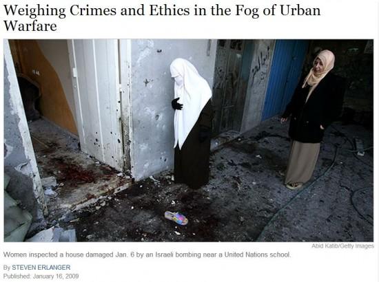 NY Times 2009 Shoe Photo Gaza