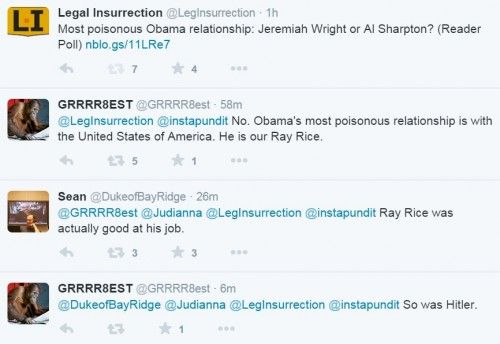 Legal Insurrection Godwin Poisonous Sharpton Wright Tweet