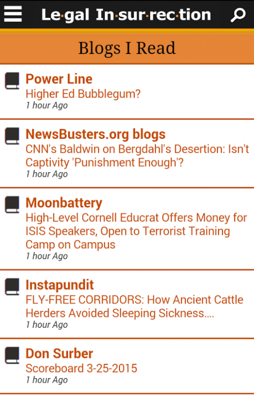 Legal Insurrection Mobile Blogs I Read