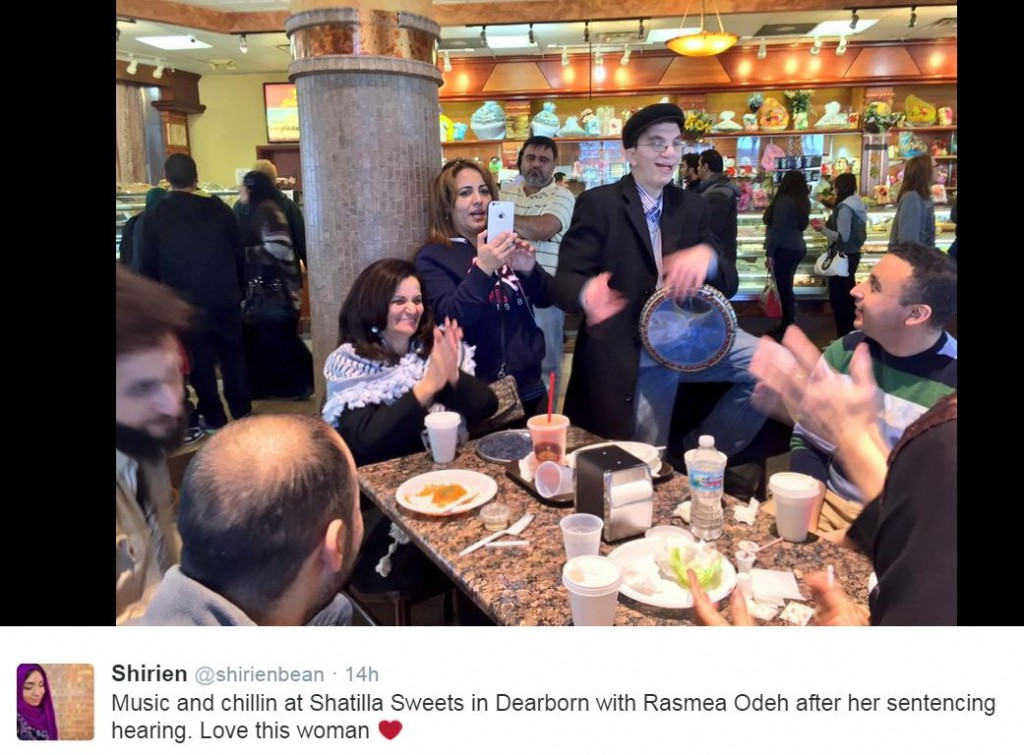 Rasmea Odeh Singing Restaurant after Sentencing