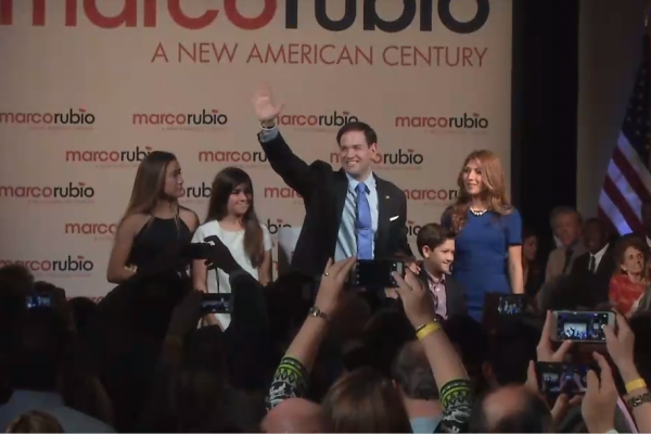 Marco Rubio Announcement and Family