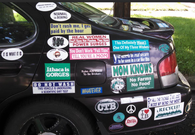 Bumper Stickers - Ithaca - Read English Thank Soldier Part 2