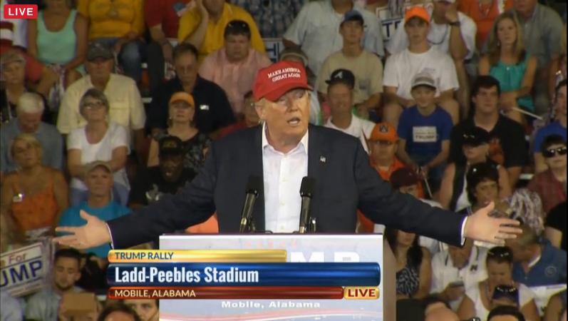 Trump Mobile Podium 2