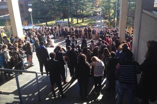 Brandeis Protest 11-20-2015 outside rally