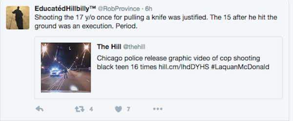 Laquan McDonald tweet