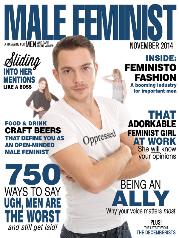 Male Feminist Magazine Cover